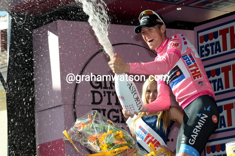 Ryder Hesjedal on stage eight of the 2012 Giro d'Italia