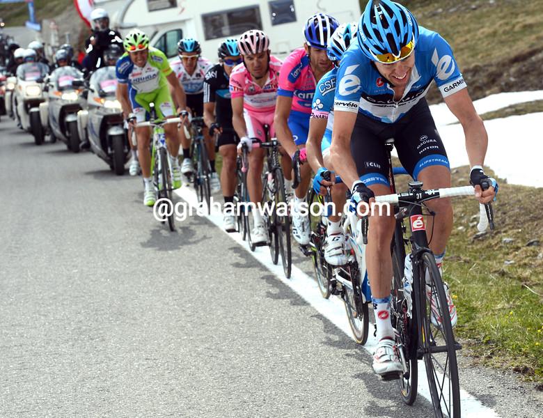 Ryder Hesjedal on stage twenty of the 2012 Giro d'Italia