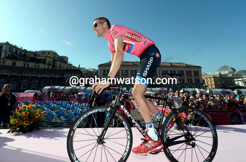 Ryder Hesjedal at the 2013 Giro d'Italia team presentation