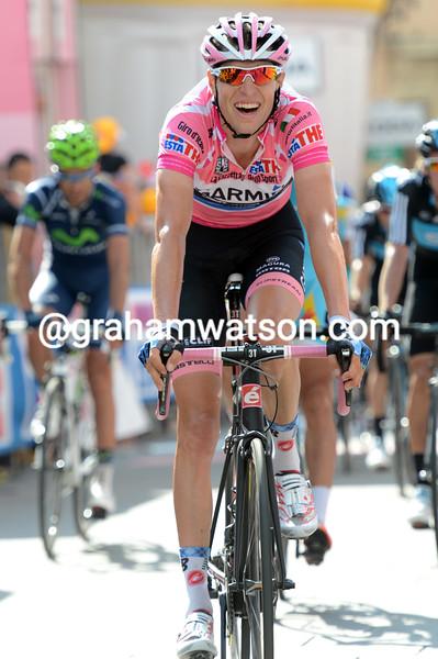 Ryder Hesjedal on stage ten of the 2012 Giro d'Italia