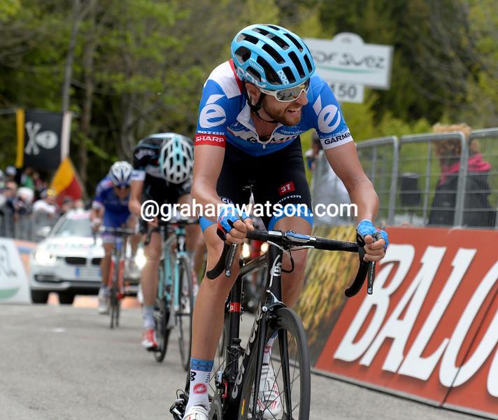 Ryder Hesjedal on stage eight of the 2014 Giro d'Italia