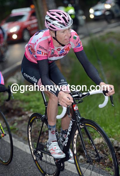 Ryder Hesjedal on stage fifteen of the 2012 Giro d'Italia