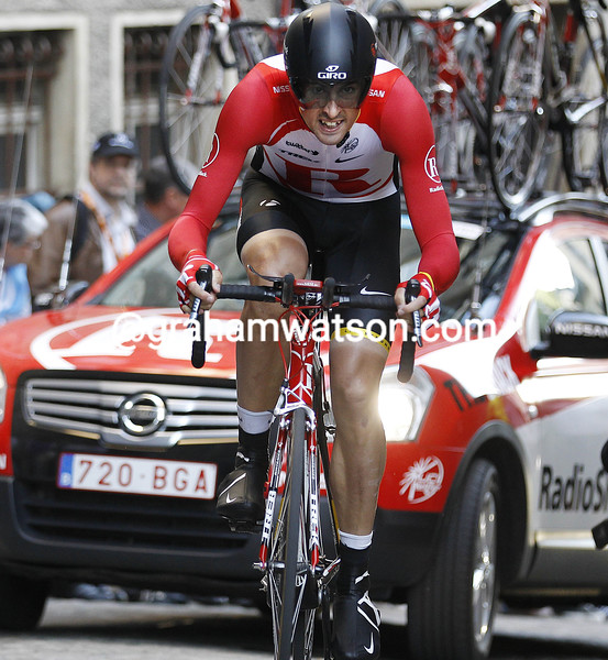 SAM BEWLEY IN THE PROLOGUE OF THE 2011 TOUR OPF LUXEMBOURG
