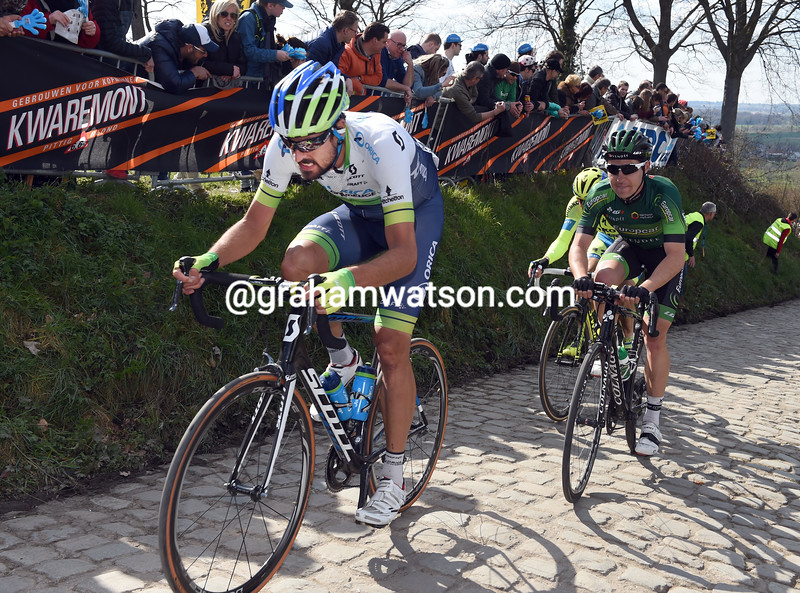 Sam Bewley in the 2015 Tour of Flanders