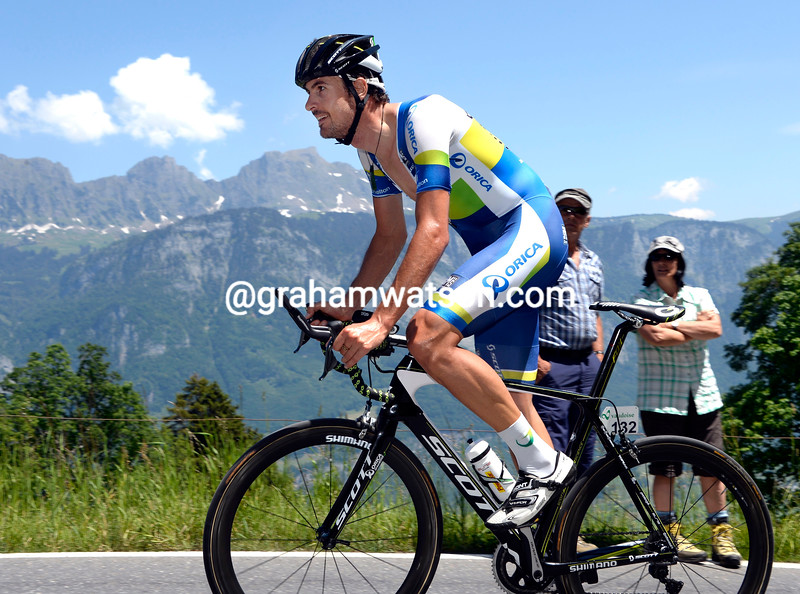 Sam Bewley on stage nine of the 2013 Tour de Suisse