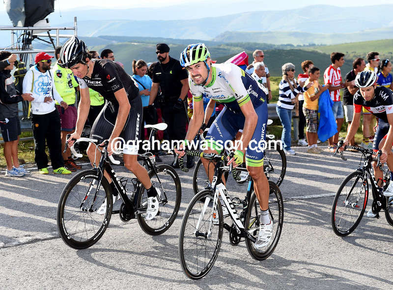 Sam Bewley and Jesse Sergent on stage nineeen of the 2014 Tour of Spain