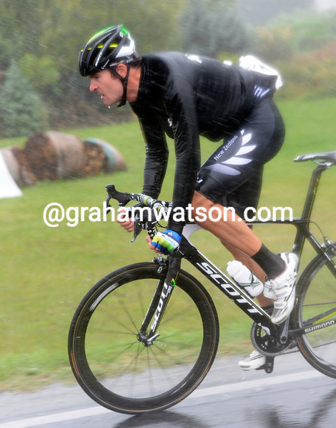 Sam Bewley in the 2013 mens road race World Championship