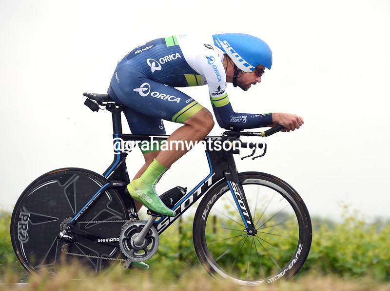 Sam Bewley on stage fourteen of the 2015 Tour of Italy