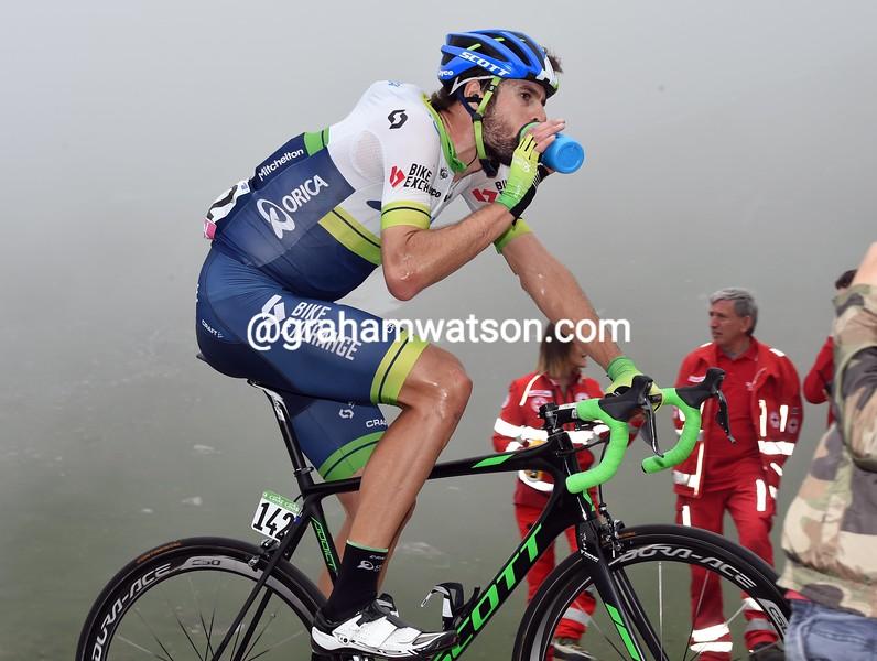 Sam Bewley on stage nineteen of the 2016 Giro d'Italia
