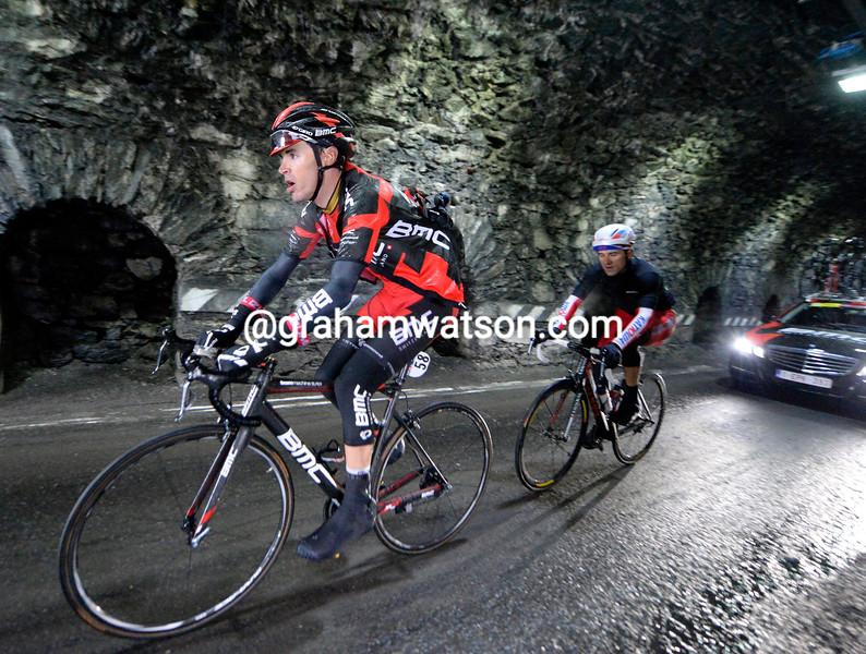 Sammy Sanchez on stage sixteen of the 2014 Giro d'Italia