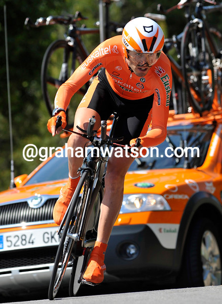 SAMMY SANCHEZ IN THE PROLOGUE OF THE 2009 TOUR OF CATALONIA