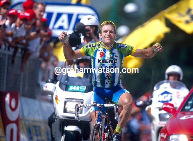 Santiago Botero wins a stage of the 2002 Tour de France