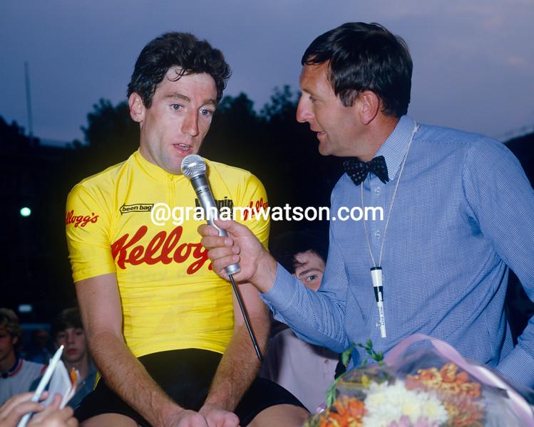 Sean Kelly and Hugh Porter in 1984