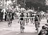 sean kelly outsprints steve bauer in a stage of the tour of ireland