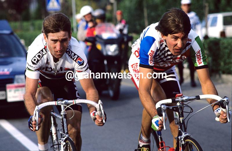 Sean Kelly and Martial Gayant in the 1991 Giro di Lombardia
