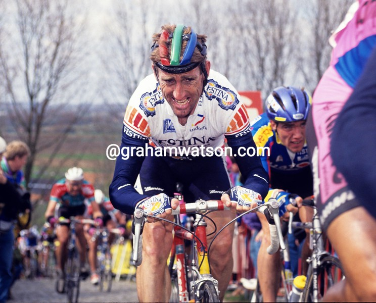 Sean Kelly in the 1991 Tour of Flanders