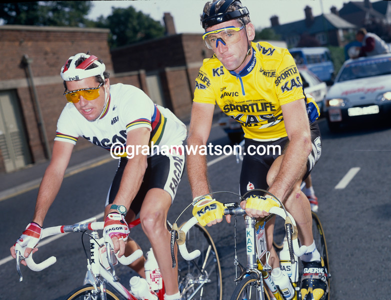 Stephen Roche and Sean Kelly in the 1988 Tour of Britain