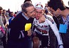 Sean Kelly with Jan Gisbers after winning the 1991 Giro di Lombardia