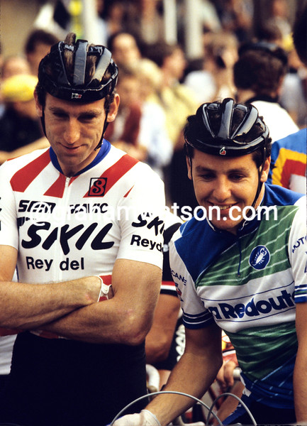 Sean Kelly and Stephen Roche in 1986