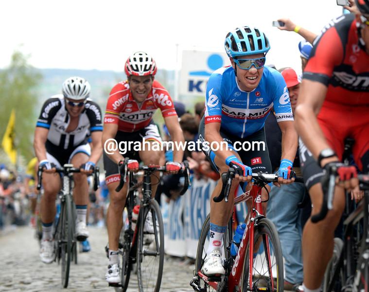 Sebastian Langeveld in the 2014 Tour of Flanders