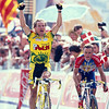 Serguei Outschakov wins a stage in the 1997 Tour de France