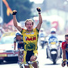 Serguei Outschakov wins a stage of the 1997 Tour de France - but was relegated to 3rd place later
