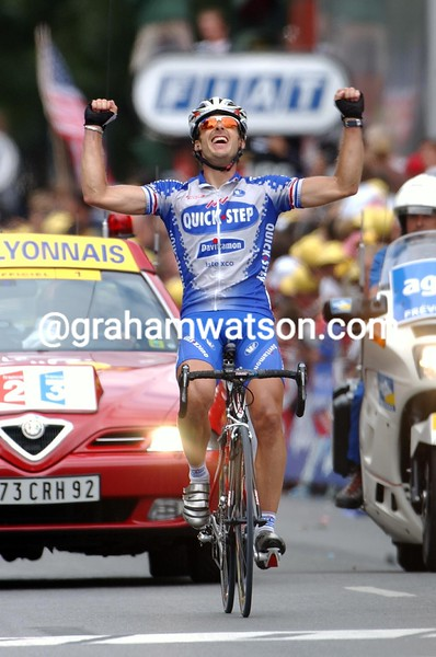 Servais Knaven on stage seventeen of the 2003 Tour de France