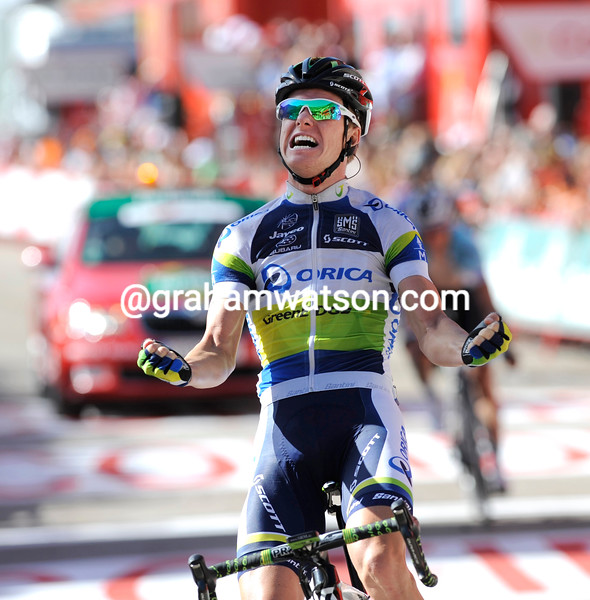 Simon Clarke wins stage 5 of the 2012 Vuelta EspaÒa