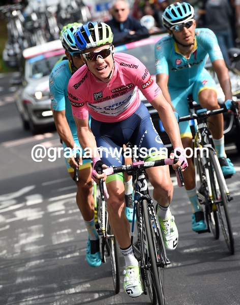 Simon Clarke on stage five of the 2015 Tour of Italy