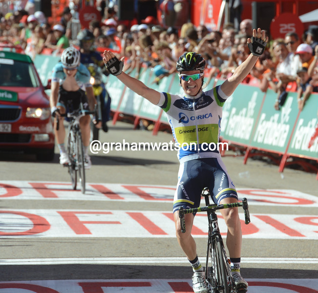 Simon Clarke wins stage four of the 2012 Vuelta EspaÒa