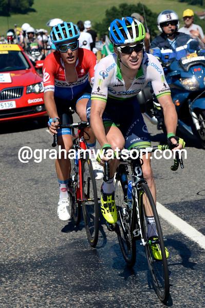 Simon Clarke leads an escape on stage twelve of the 2014 Tour de France