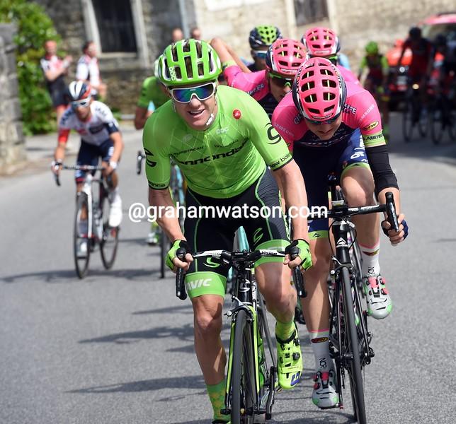 Simon Clarke on stage thirteen of the 2016 Giro d'Italia