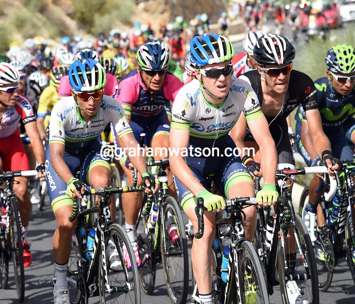 Simon Clarke and Esteban Chaves on stage seven of the 2014 Tour of Spain