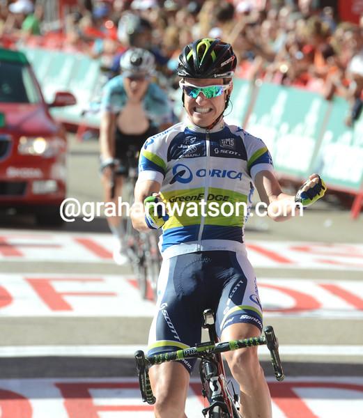 Simon Clarke wins stage four of the 2012 Vuelta EspaÒa