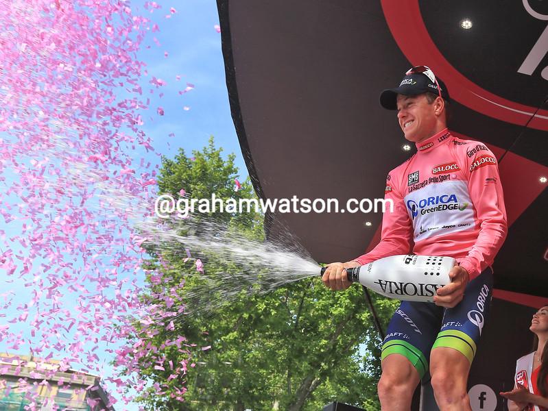 Simon Clarke on stage four of the 2015 Tour of Italy