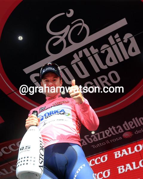Simon Clarke on stage tfour of the 2015 Tour of Italy