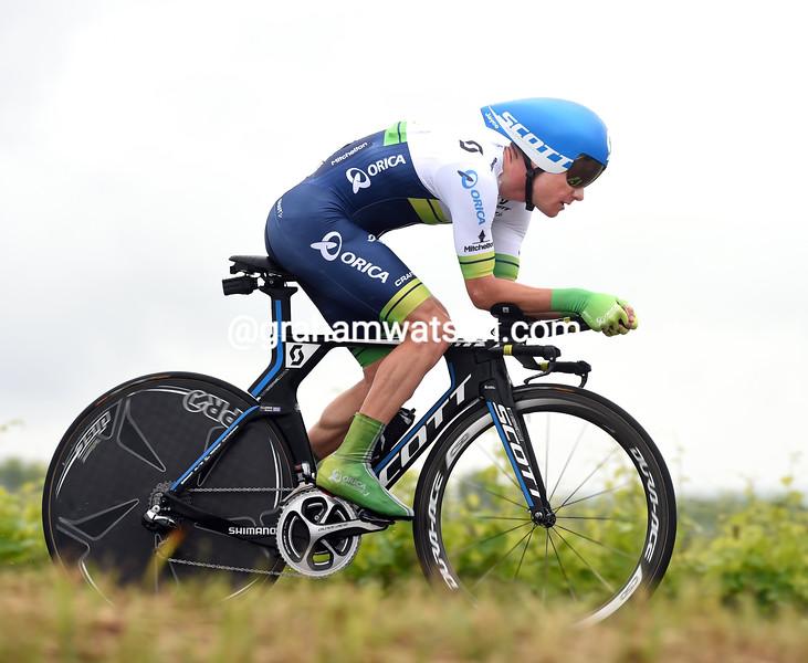 Simon Clarke on stage fourteen of the 2015 Tour of Italy