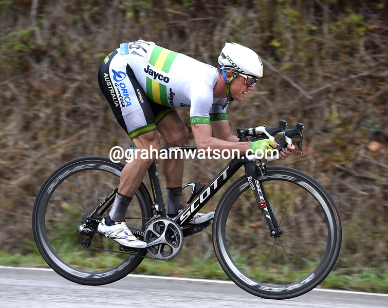Simon Gerrans in the mens road race at the 2014 World Road Championships