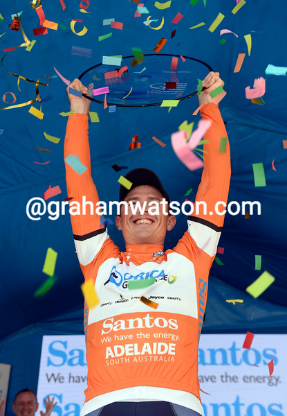 Simon Gerrans on stage six of the Tour Down Under