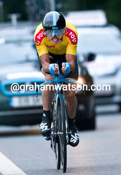 SIMON GERRANS ON STAGE FIVE OF THE TOUR OF DENMARK