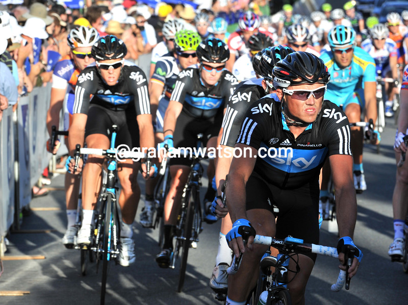 SIMON GERRANS ON STAGE ONE OF THE 2011 TOUR DOWN UNDER