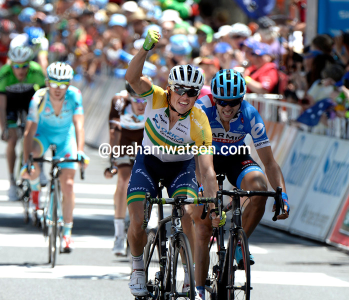 Simon Gerrans wins stage one of the 2014 Tour Down Under