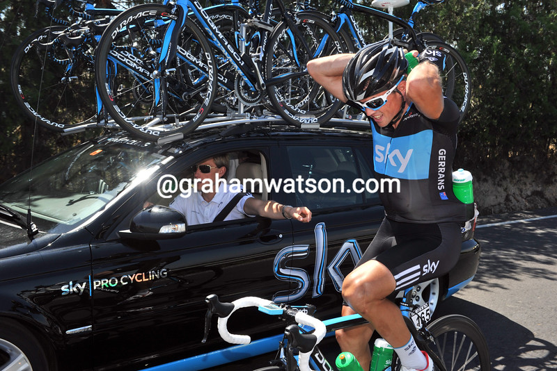 SIMON GERRANS ON STAGE SEVEN OF THE TOUR OF SPAIN