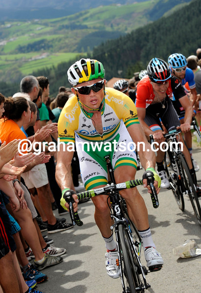 Simon Gerrans on stage one of the 2014 Tour of the Basque Country