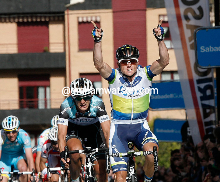 Simon Gerrans wins stage one of the 2013 Basque Country Tour