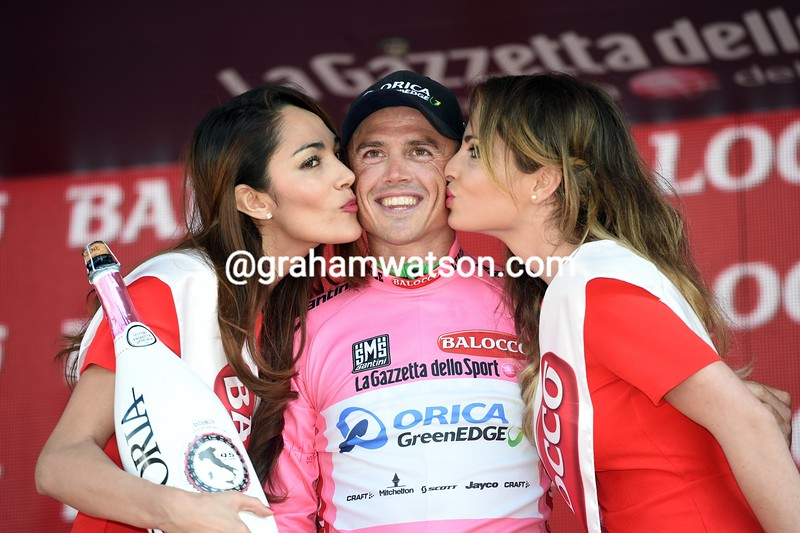 Simon Gerrans after stage one of the 2015 Tour of Italy