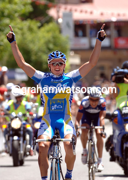 SIMON GERRANS WINS STAGE ONE OF THE TOUR DOWN UNDER