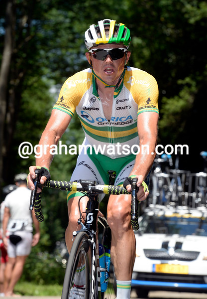 Simon Gerrans on stage five of the 2014 Dauphine-Libere