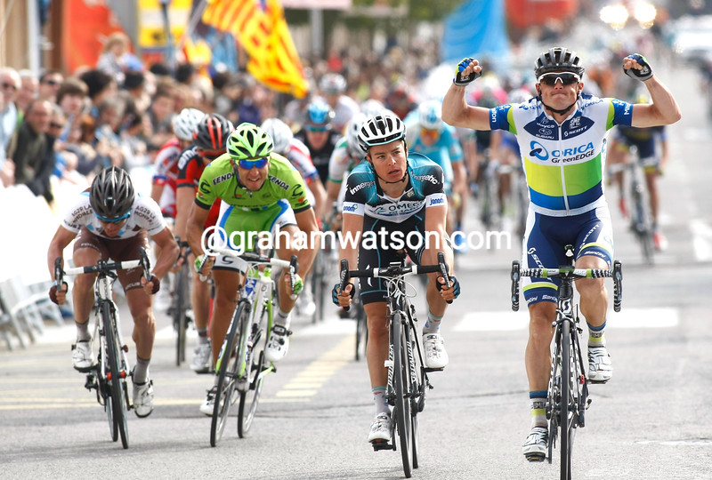 Simon Gerrans wiins stage six of the 2013 Tour of Catalonia