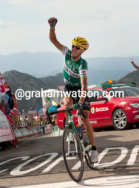 Antonio Piedra wins stage fifteen of the 2012 Vuelta España